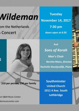 Peter Wildeman onganist from the Netherlands in Concert